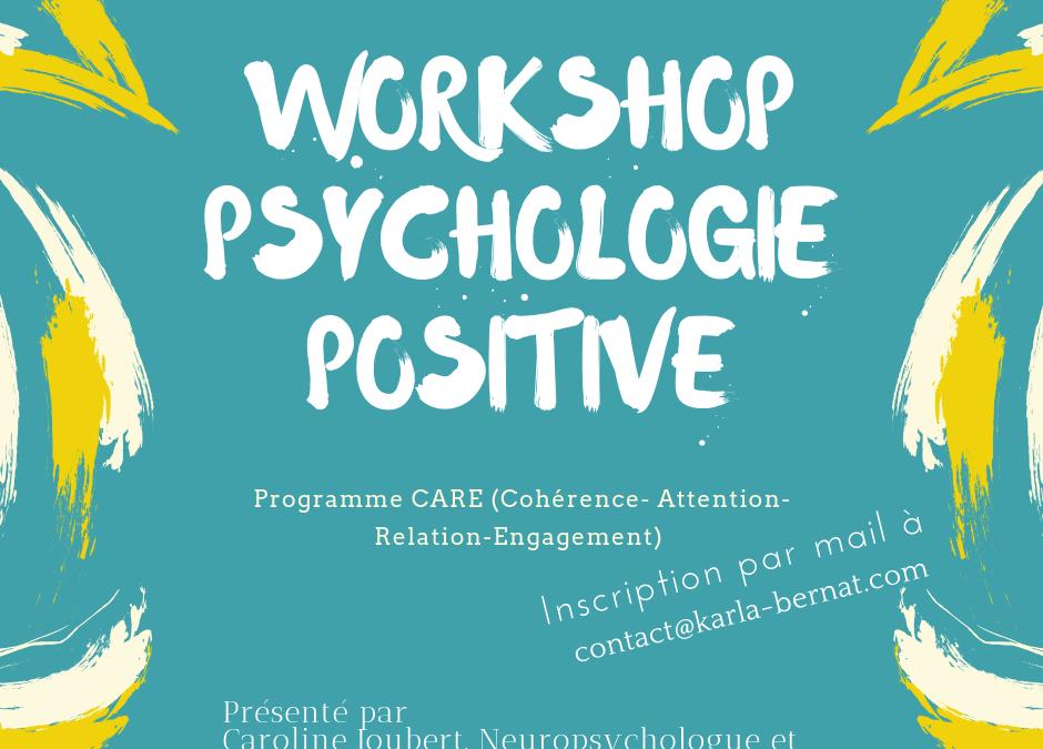 Mise en place d'un atelier de Psychologie Positive en 2019!